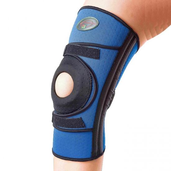 Бандаж для сильной фиксации колена с 4-мя спиральными ребрами жесткости К-1П