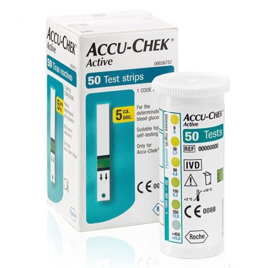 Тест-полоски Accuchek Aktive, 50 шт.