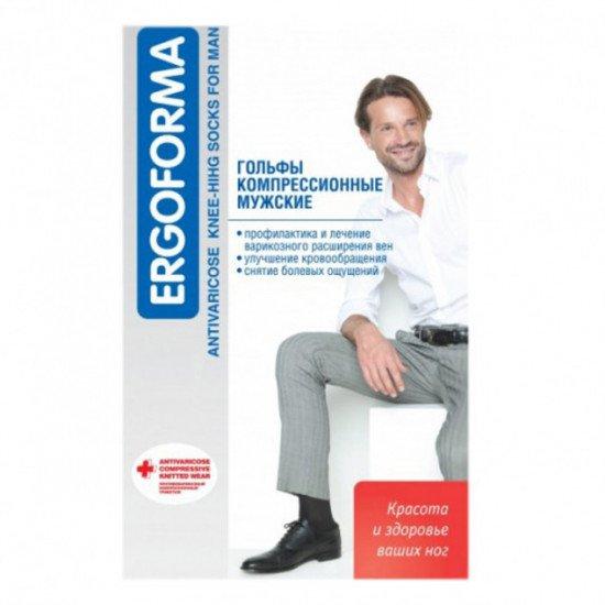 Гольфы антиварикозные мужские ERGOFORMA профилактические/15-18 мм рт.ст. (302)
