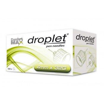 Иглы для инсулиновых шприц-ручек Droplet, 4 мм №10
