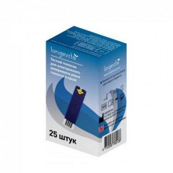 Тест-полоски для глюкометра Longevita 25 шт