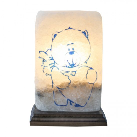 """Соляная лампа """"Мишка с сердцем"""" 3,5  кг"""