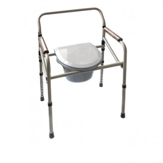 Стул туалетный стальной складной регулируемый Medok MED-04-011