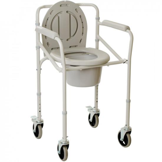 Стул-туалет складной на колесах, OSD-2110JW