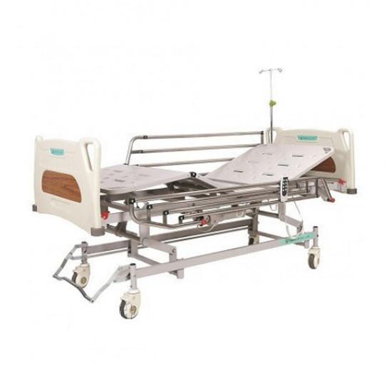 Кровать с электроприводом 4-х секционная с усиленными колесами REHA-E1