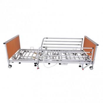 Кровать с электроприводом 4-секционная усиленная на колесах REHA-D1