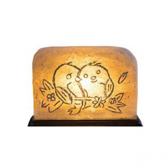 """Соляная лампа """"Птички"""" 3,5  кг"""