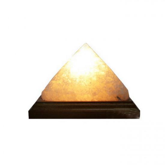 """Соляная лампа """"Пирамида энергетическая"""" 1,5  кг"""