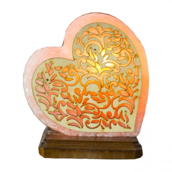 """Соляная лампа """"Сердце на боку ( с деревом)"""" 3 кг"""