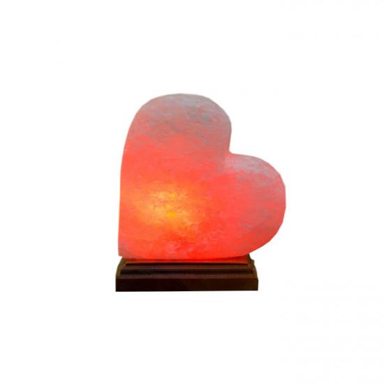 """Соляная лампа """"Сердце на боку """" 1,5  кг"""
