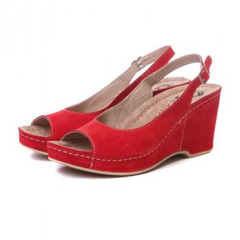 Женские кожаные босоножки VESUVIO RED 505