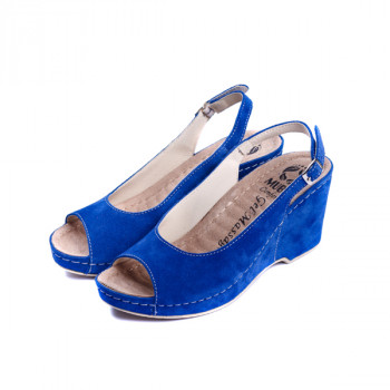 Женские кожаные босоножки VESUVIO BLUE 505