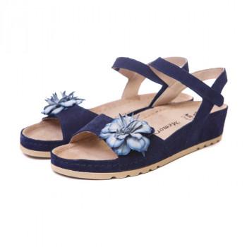 Женские кожаные босоножки VESUVIO BLUE 8897-1