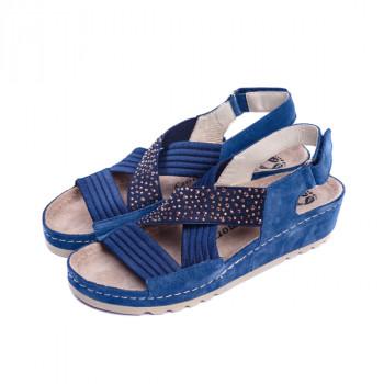 Женские кожаные босоножки VESUVIO BLUE 8800
