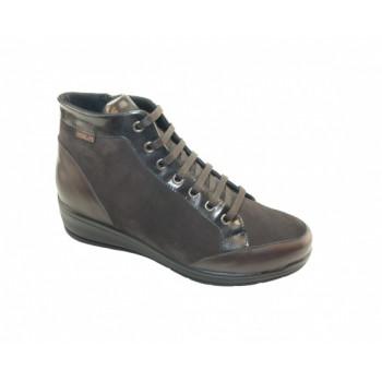 Женские ботинки Hergos Н9310 Camoscio/Nappa Nero