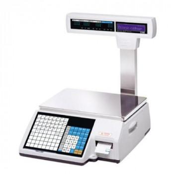 Весы торговые с печатью этикеток CAS CL5000J-IP/R