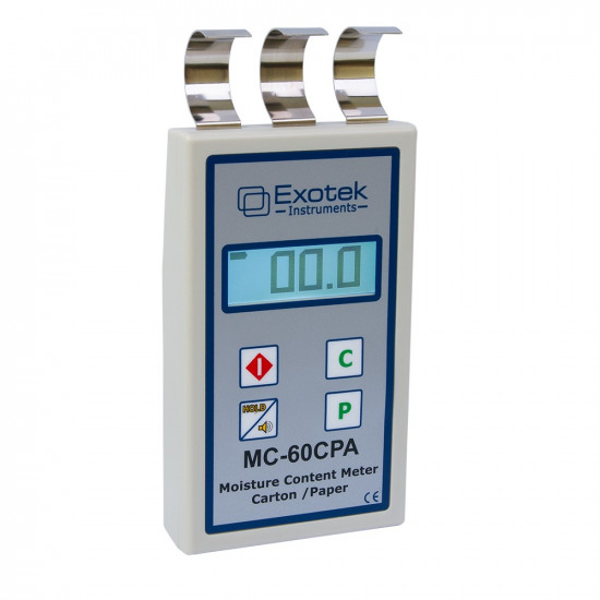 Портативный влагомер бумаги и картона Exotek MC-60CPA