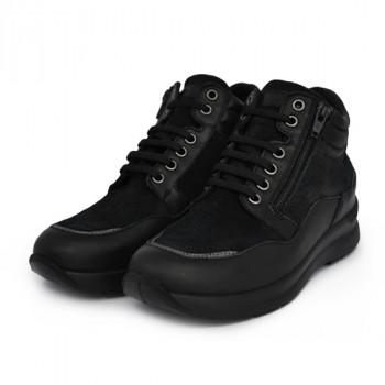 Женские ботинки Sabatini S3502 Nappa/Camoscio Nero
