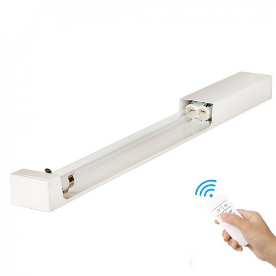Кварцевый бактерицидный облучатель настенный SM Technology SMT-W36/360 Безозоновый 36 Вт с пультом ДУ и таймером