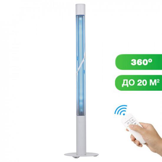 Кварцевый бактерицидный облучатель SM Technology SMT-15/360 Озоновый с пультом ДУ и таймером