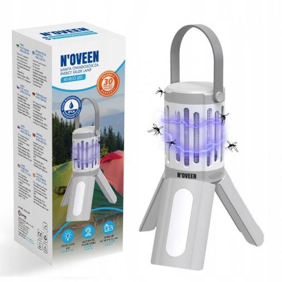 Туристическая инсектицидная лампа Noveen IKN833 LED на батарейках